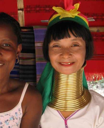 Beautiful Thai lady. What we do for beauty, eh?